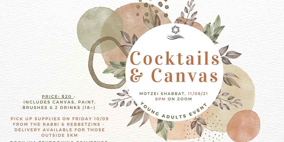 Cocktails and Canvases Young Adults Event