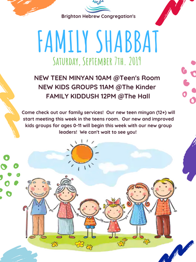 Brighton Shule Family Shabbat 7 September