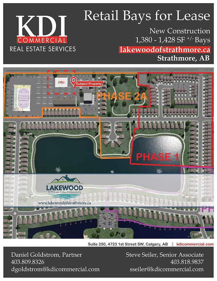 FOR LEASE - Strathmore Lakewood Developm
