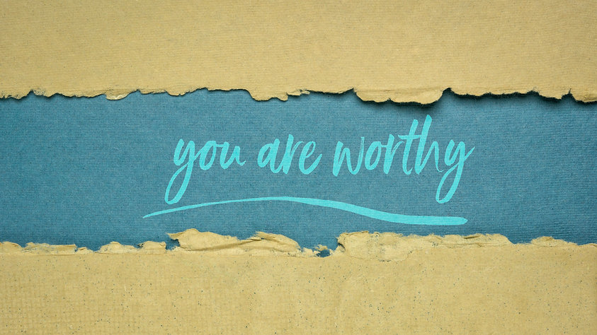 you are worthy inspirational note - hand