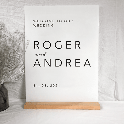 Andrea welcome sign