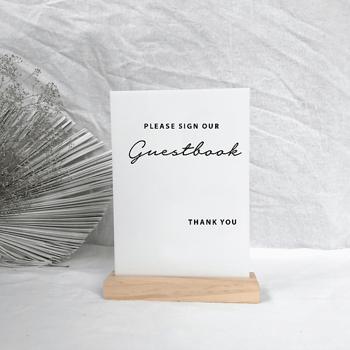 Andrea guestbook sign