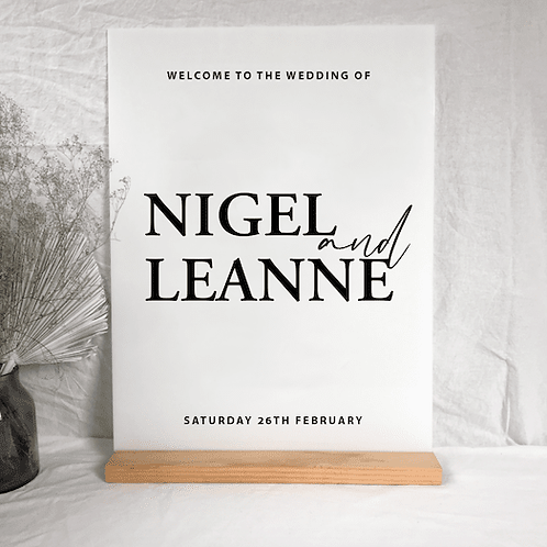 Nigel welcome sign