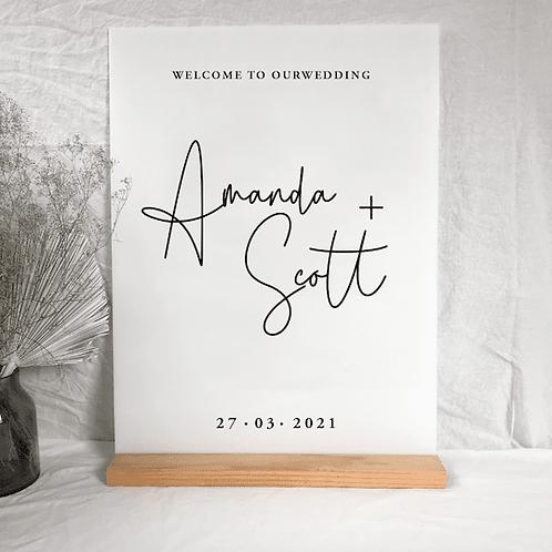 Amanda welcome sign