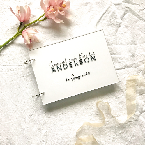 A4 ACRYLIC GUEST BOOK