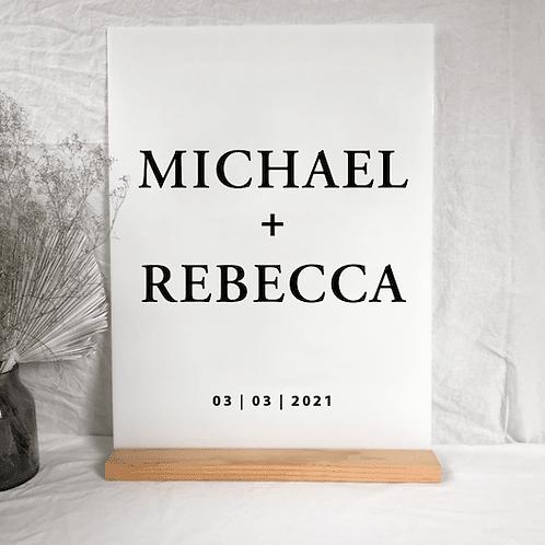 Rebecca welcome sign