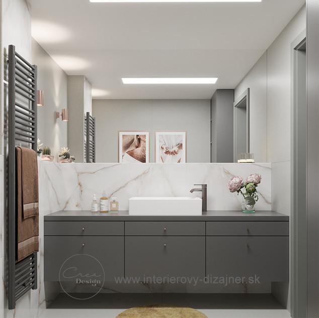 Mezonet Nové Rudiny - kúpeľňa s vaňou