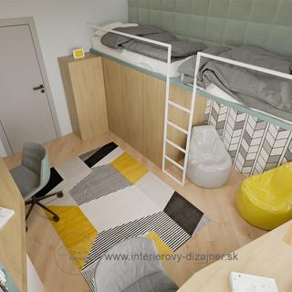 Chlapčenská izba pre dvoch