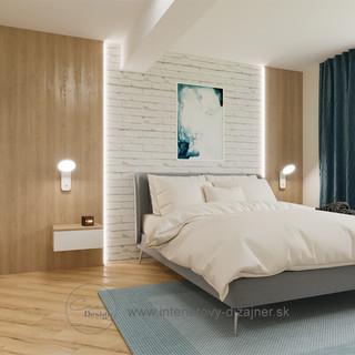 Spálňa s modrou