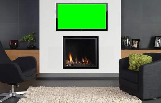 Vola 600 x 600 Hole in the wall Gas Fire