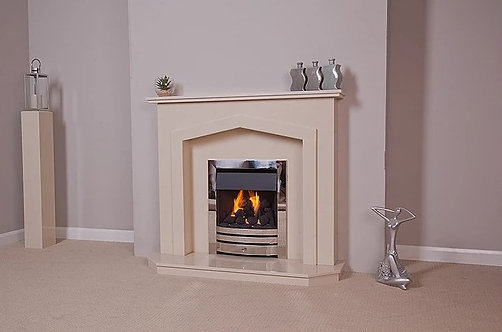 Omari Marble Fireplace