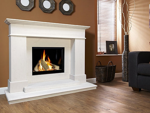 Botticelli Limestone Fireplace Celena Gas Fire Suite CF