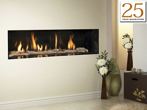 Carmelo HE Gas Fire Balanced Flue Frameless Gas Fire