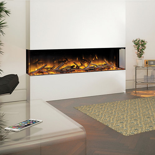 Flamerite Glazer 1500 3-Sided Electric Fire