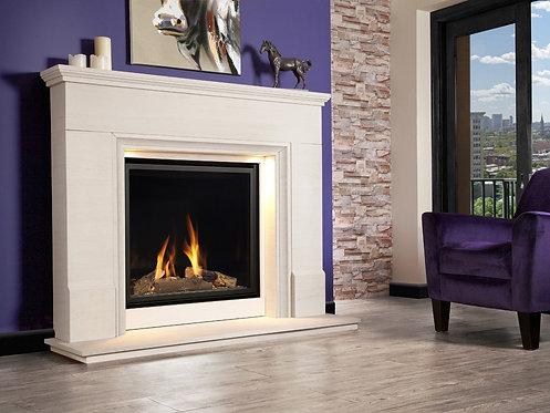 Distinction Illumia Limestone Full Depth Gas Fire Suite CF