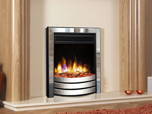 Celsi Ultiflame VR Designer Inset Electric Fire Chrome & Black