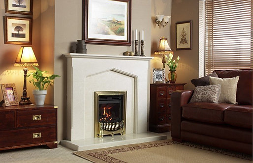 The Chattering Fireplace in Marble Stone, 54 Inch