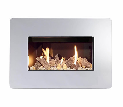 Royal 600 Mirror effect Manual Control Inset Gas fire
