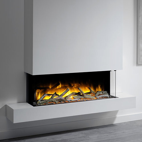 Flamerite Glazer 1000 3-Sided Electric Fire with Iona Suite