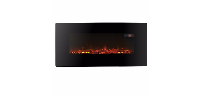 LED 1120 Black R/Control Wall Hung Electric Fire