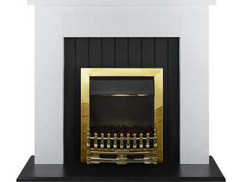 Chessington Surround in Brass Electric Fire