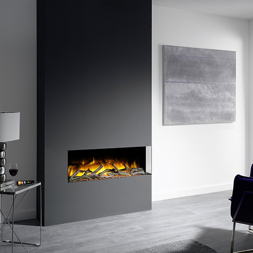 Flamerite Glazer 1000 2-Sided Inset Electric Fire