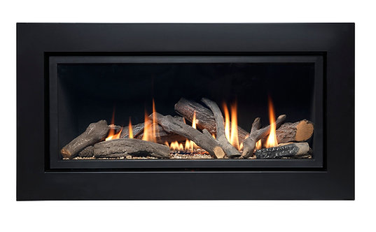 Vola 860 HE Black Trim Gas Fire