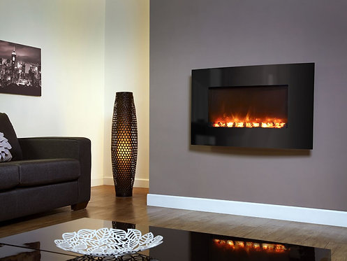 Celsi Electriflame Curved Black Electric Fire