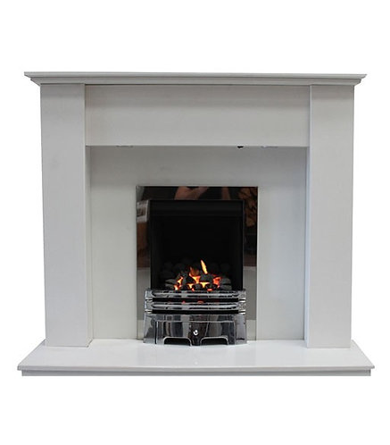 Imani Polar White Marble Fireplace