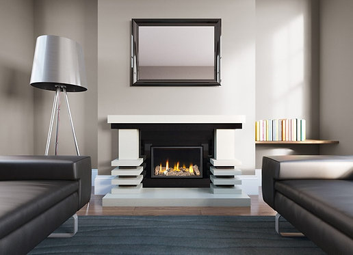Zenvo Marble Fireplace Suite with High Efficiency Gas Fire