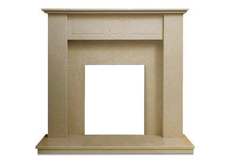 The Pasadena Fireplace in Marble Stone, 48 Inch