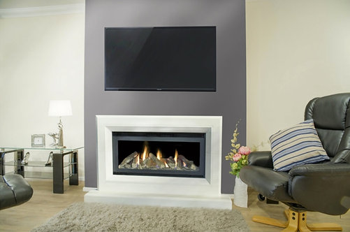 Serenity Limestone Suite with High Performance Gas Fire 5.1kw