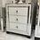White Boston Mirror 3 Drawer Bedside Cabinet
