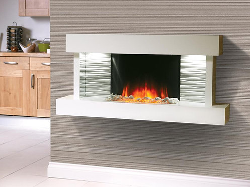Kara LED Wall Mounted Electric Fireplace