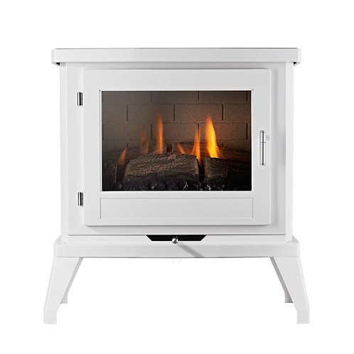 EKOFIRES 6030 FLUELESS GAS STOVE - WHITE