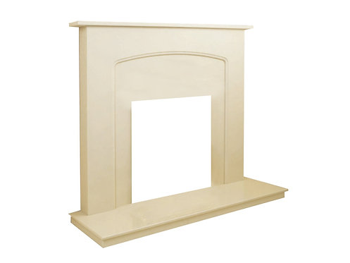 Rino Marble Fireplace 42 Inch in Pale Marfil