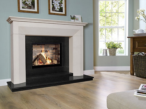 Angelo Celena Limestone & Granite  Gas Fireplace CF