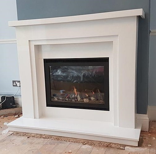 Celtic 54 inch surround with Tulsa Glass Fronted Gas Fire