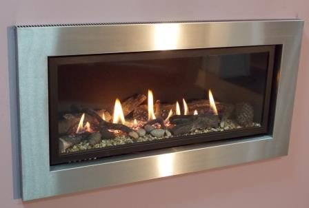 Pinnacle 860 HE Chrome Remote Control Inset Gas Fire