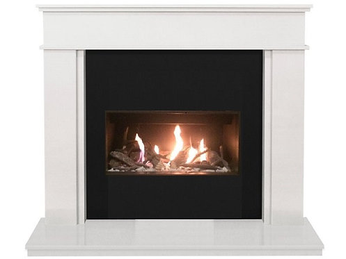 The Portland Fireplace Suite with Open Fronted Gas Fire