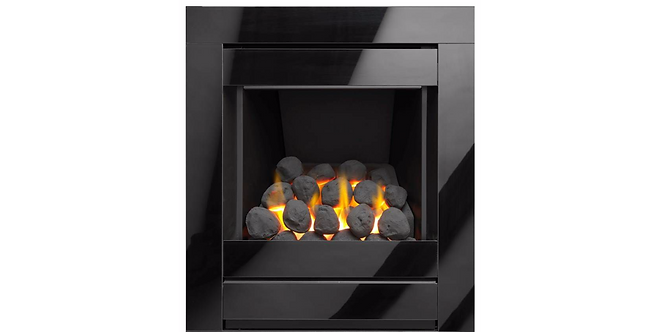 Cristal Open Fronted Glass Frame Gas Fire 4 Sided