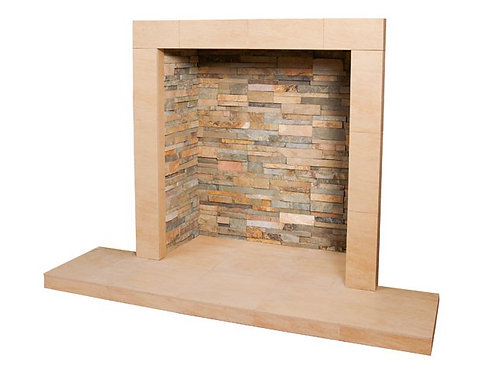Ochre Chamber with Large Hearth