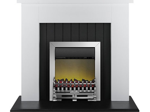 Chessington Surround in Chrome Electric Fire