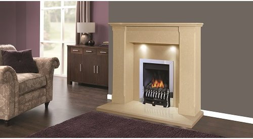 """Bina Marble Fireplace with Downlights 48""""Inch"""