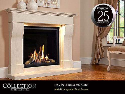 Da Vinci MD Illumia Limestone Fireplace Suite CF