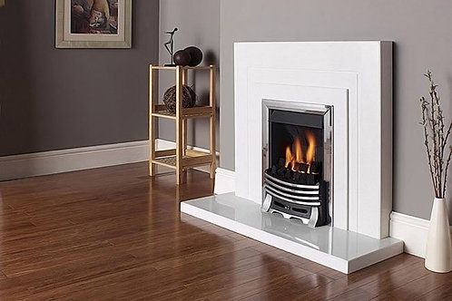 The Bellina Fireplace in Sparkly White, 44 Inch
