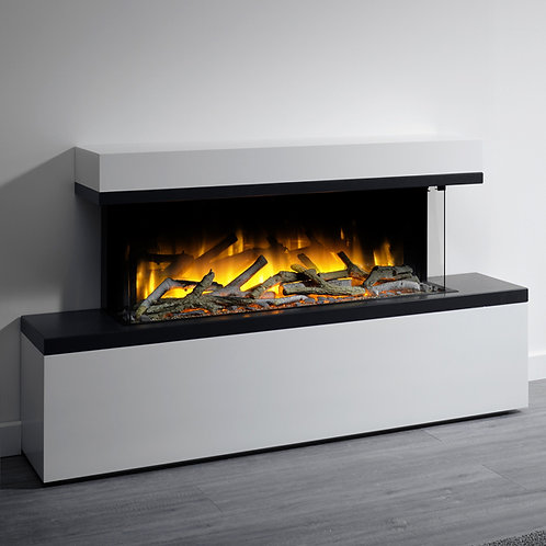 Flamerite Glazer 1000 3-Sided Electric Fire with Tropo Suite