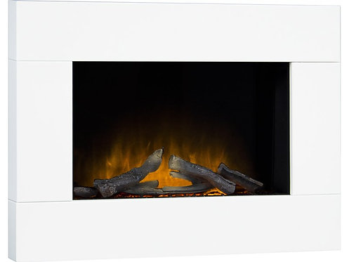 Carina Electric Wall Mounted Fire with Remote Control in White, 32 Inch
