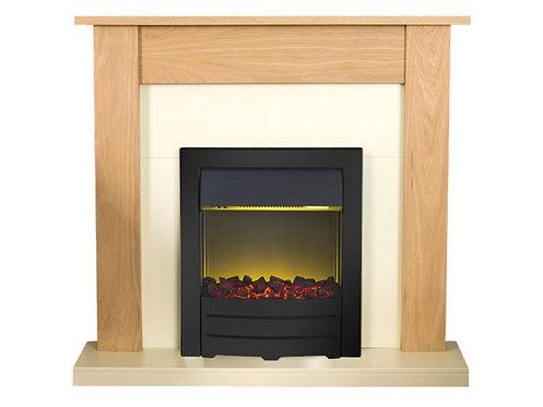 Black Electric Fireplace Suite