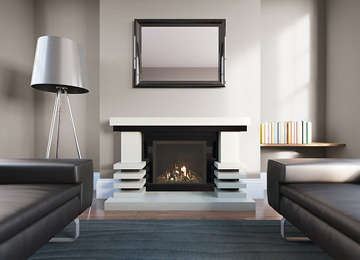 Diablo Marble Fireplace Suite with High Efficiency Gas Fire